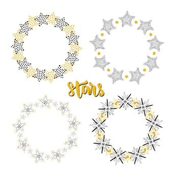 Conjunto de decoração de fundo de estrelas