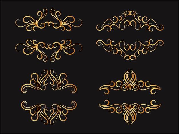 Conjunto de decoração de mega coleção de elementos divisores florais