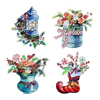 Conjunto de decoração de natal