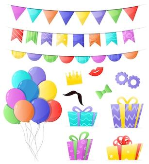 Conjunto de decorações de aniversário