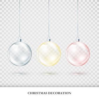 Conjunto de decorações de natal coloridas