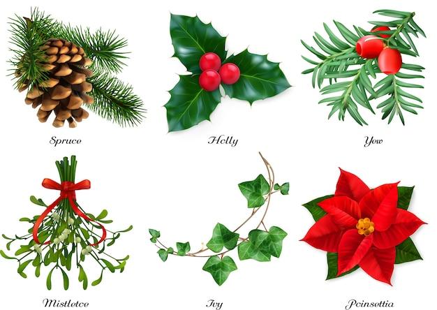 Conjunto de decorações de natal