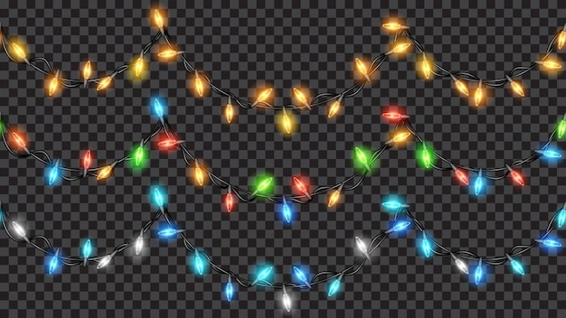 Conjunto de decorações festivas de natal