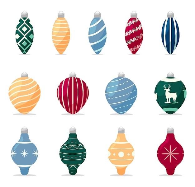 Conjunto de decorações para árvore de natal