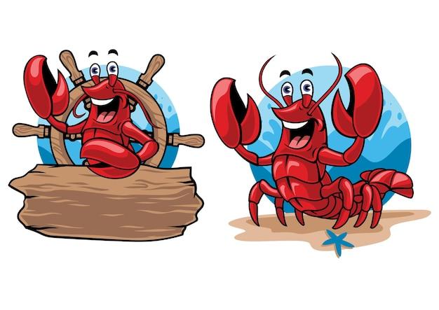 Conjunto de desenho de lagosta