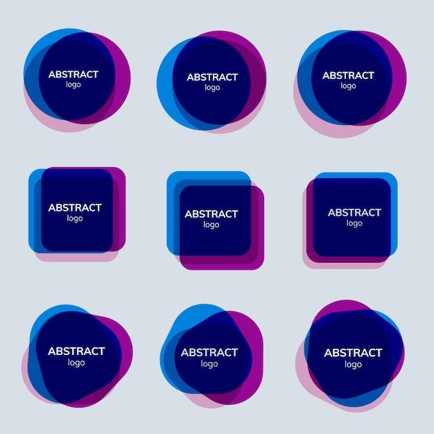 Conjunto de desenhos abstratos distintivos