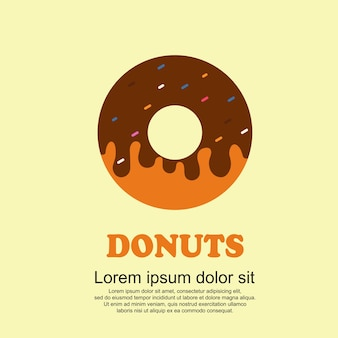 Conjunto de desenhos animados de comida clássica, big donuts