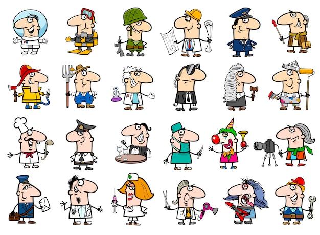 Conjunto de desenhos animados de ocupação