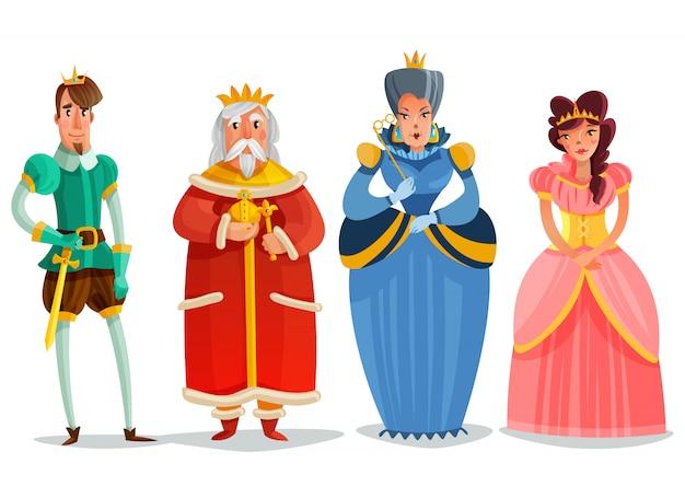 Conjunto de desenhos animados de pessoas de fadas