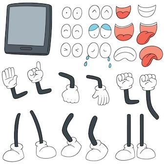 Conjunto de desenhos animados de smartphone