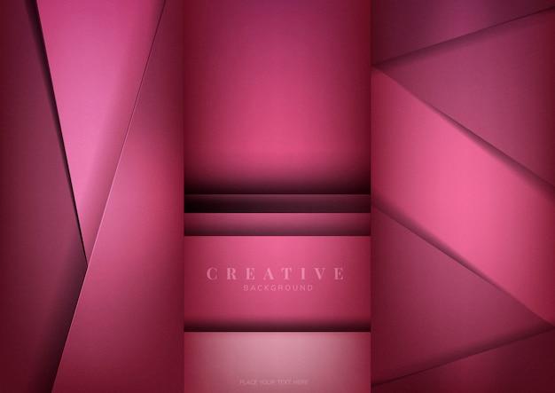 Conjunto de desenhos de fundo criativo abstrato em rosa profundo