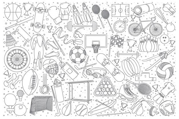 Conjunto de desenhos do esporte