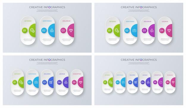 Conjunto de desenhos infográfico vetor minimalista contemporâneo.