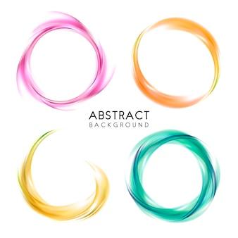 Conjunto de design abstrato colorido