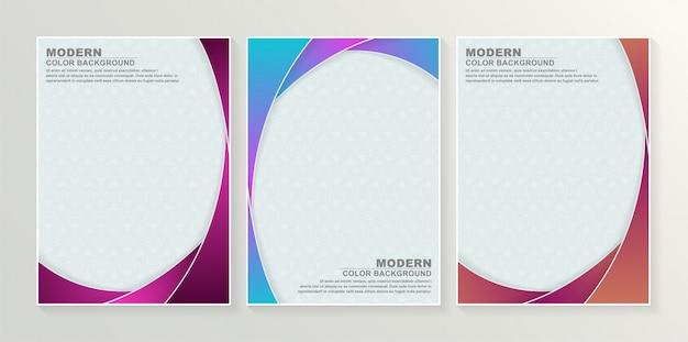Conjunto de design abstrato de capas mínimas.
