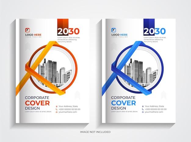Conjunto de design criativo de capa de livro de negócios corporativos