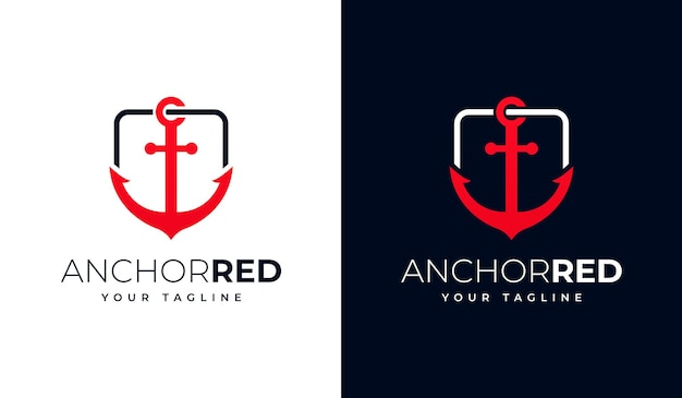 Conjunto de design criativo de logotipo âncora para todos os usos