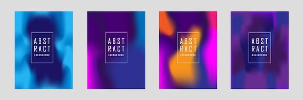 Conjunto de design da capa abstrata
