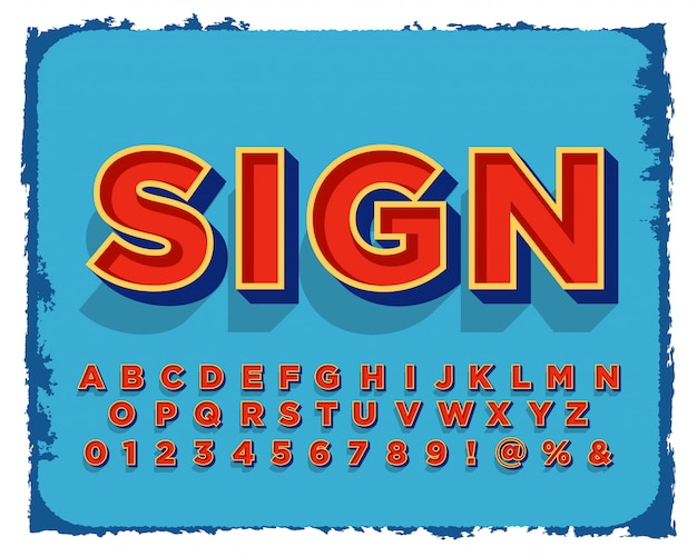 Conjunto de design de alfabeto de pintura de sinal