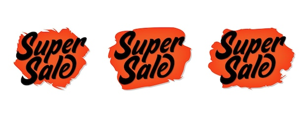 Conjunto de design de banner de venda