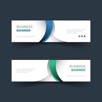 Conjunto de design de banner simples e moderno