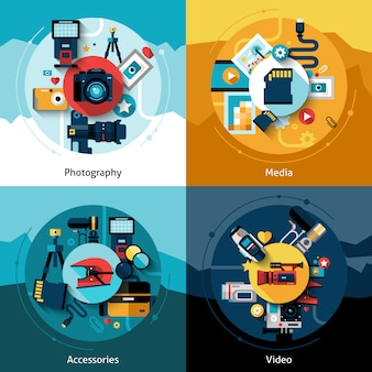 Conjunto de design de câmera