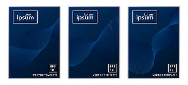 Conjunto de design de capa brochura comercial mínima
