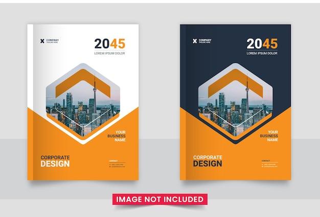 Conjunto de design de capa de brochura comercial ou relatório anual e perfil da empresa ou modelo de capa de livreto