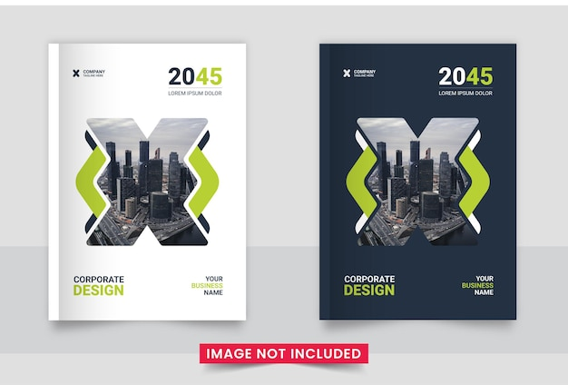 Conjunto de design de capa de brochura comercial ou relatório anual e perfil da empresa ou modelo de capa de livro flyer