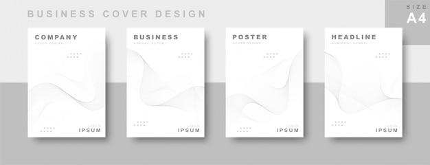 Conjunto de design de capa de negócios
