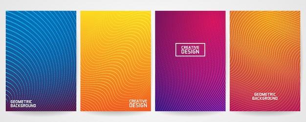 Conjunto de design de capa mínima com moderno padrão geométrico