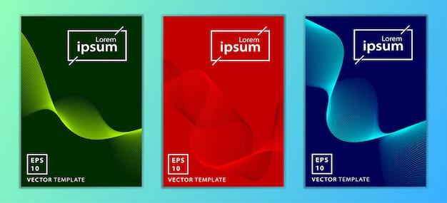 Conjunto de design de capa mínima de negócios