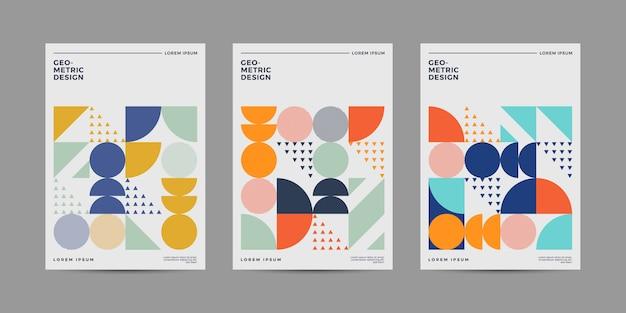 Conjunto de design de capa retrô