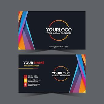 Conjunto de design de cartão de visita profissional moderno