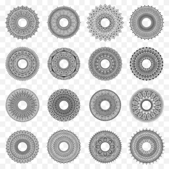 Conjunto de design de círculo de mandala