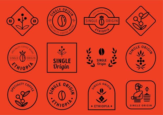 Conjunto de design de distintivo de origem única