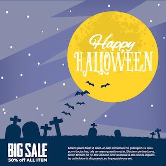 Conjunto de design de halloween flyer, design de plano de fundo