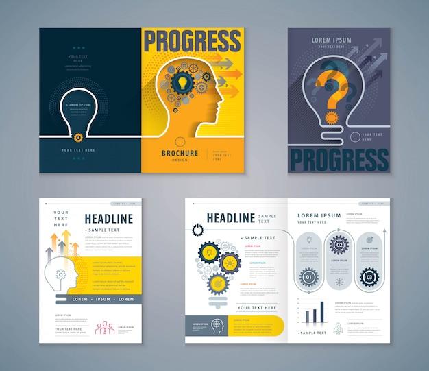 Conjunto de design de livro de capa