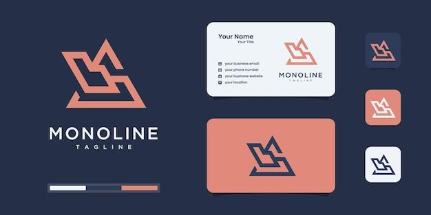 Conjunto de design de logotipo abstrato b & s ou bs monograma inicial, ícones para negócios da empresa.