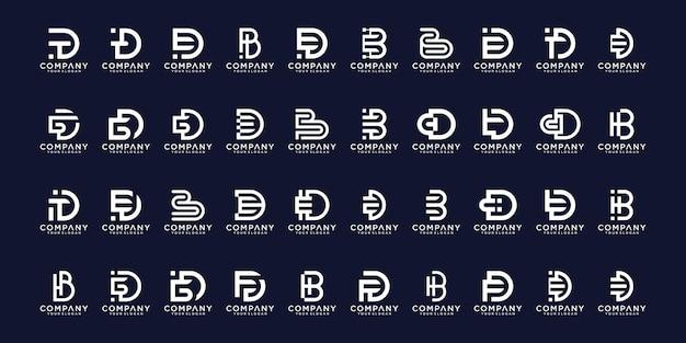 Conjunto de design de logotipo az.monogram inicial abstrato