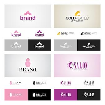 Conjunto de design de logotipo corporativo