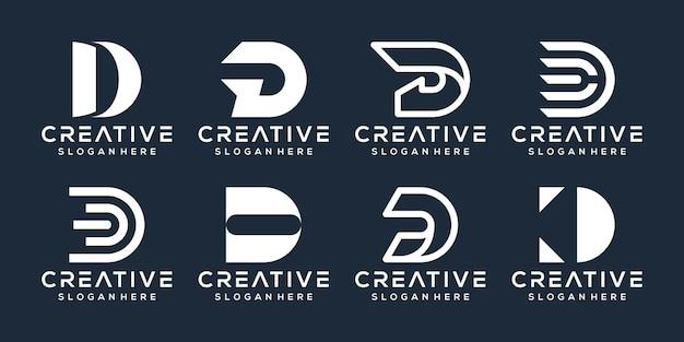 Conjunto de design de logotipo da letra d