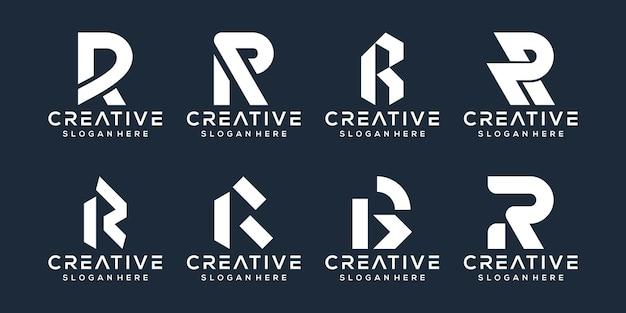 Conjunto de design de logotipo da letra r