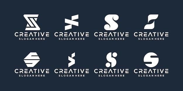 Conjunto de design de logotipo da letra