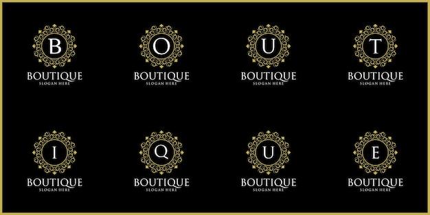 Conjunto de design de logotipo da luxury logos boutique