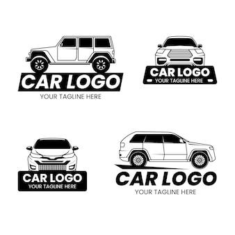 Conjunto de design de logotipo de carro
