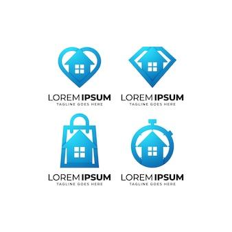 Conjunto de design de logotipo de imóveis e propriedades