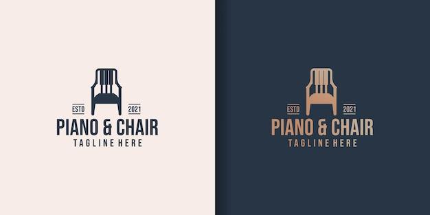 Conjunto de design de logotipo de móveis musicais
