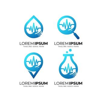 Conjunto de design de logotipo de saúde