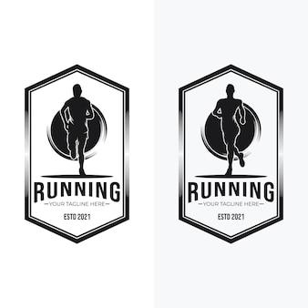 Conjunto de design de logotipo em execução
